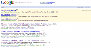 Google Search Results: &quot;asbestos lawyers in oakland ca&quot;